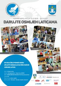 """Humanitarna akcija """"DARUJTE OSMIJEH LATICAMA"""""""