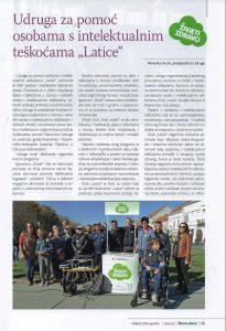 Časopis za promociju zdravlja – Nove staze, autor teksta o udruzi, Nevenka Fuchs, predsjednica Udruge