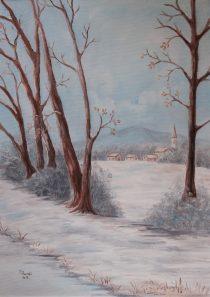 Pogled na selo zima