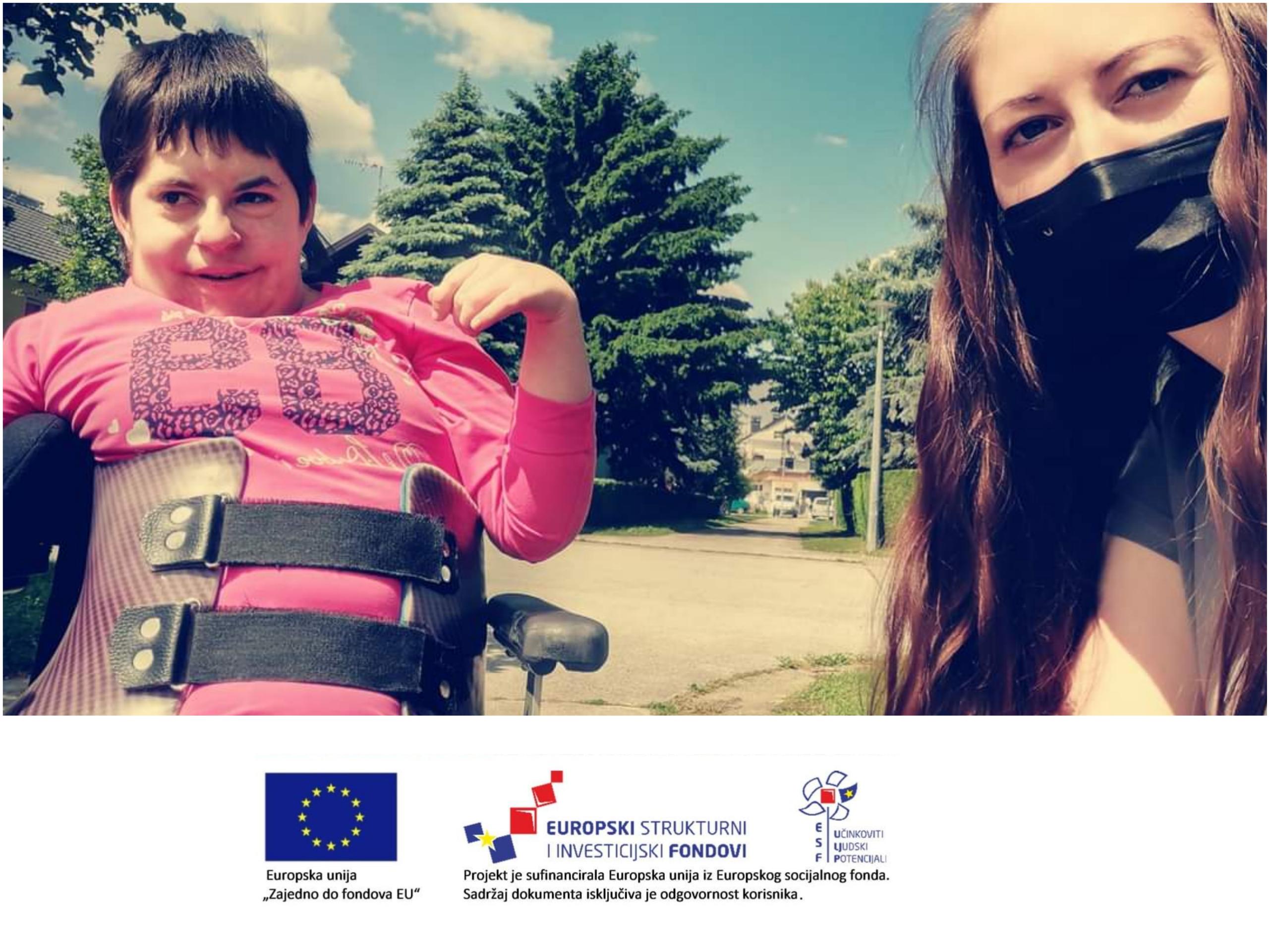"""Usluge osobne asistencije za osobe s intelektualnim teškoćama """"Latice"""" Koprivnica – Alena i Sandra"""